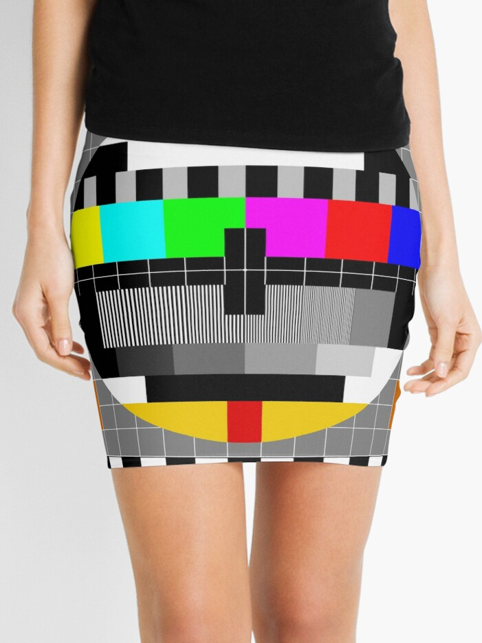 Calibration Test Card, TV monitor film, video geek | Mini Skirt