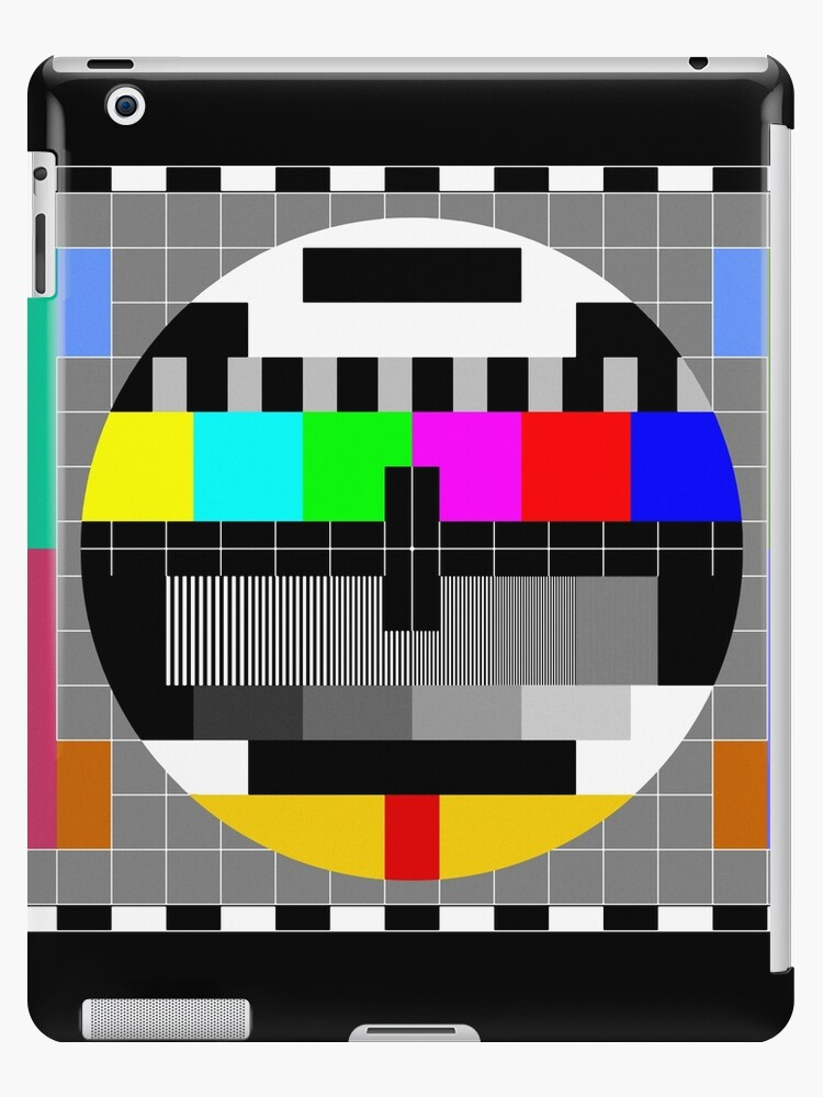 'Calibration Test Card, TV monitor film, video geek' iPad Case/Skin by  Glimmersmith