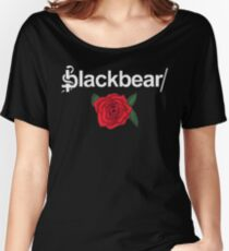Blackbear Logo with Rose Women's Relaxed Fit T-Shirt