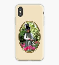 A Colonial Lady in Her Garden iPhone Case