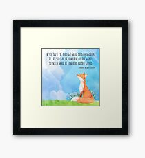Tamed Fox Little Prince fox quote, text art Framed Print