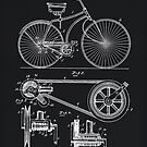 Vintage Bicycle patent illustration 1890 by Glimmersmith