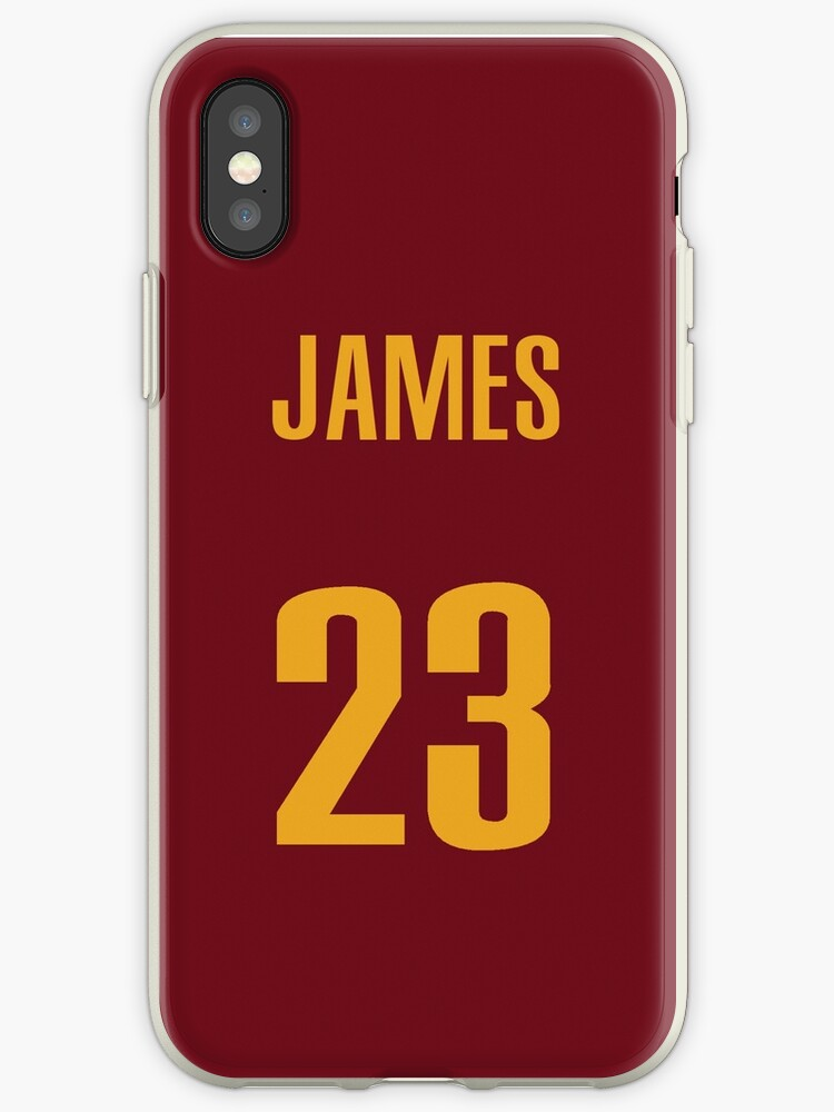 sale retailer 6d67a d5afc 'LeBron James 23 Red Jersey Phone Case' iPhone Case by Shaun Tayaba