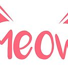 Meow - Pink by catloversaus