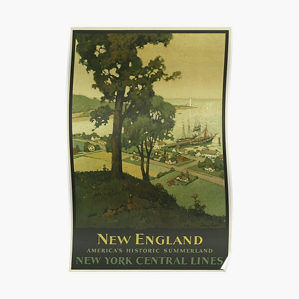 New England - Vintage Travel Poster Poster