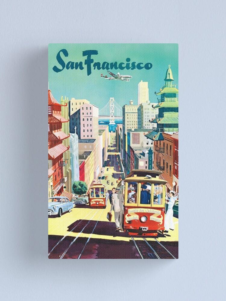 Alternate view of San Francisco - Vintage Travel Poster Canvas Print