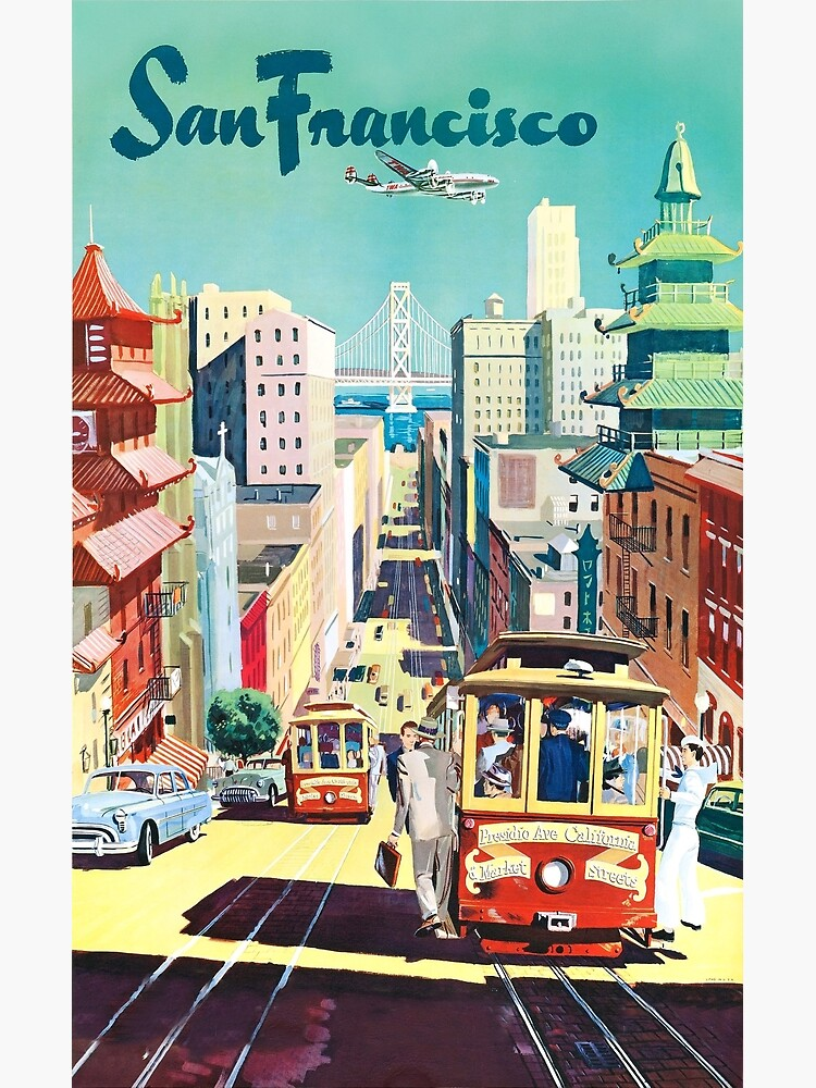 San Francisco - Vintage Travel Poster by dru1138
