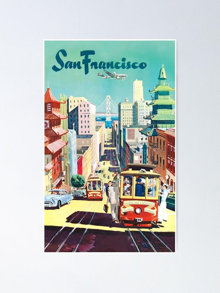 Vista alternativa de Póster San Francisco - Cartel de viaje vintage