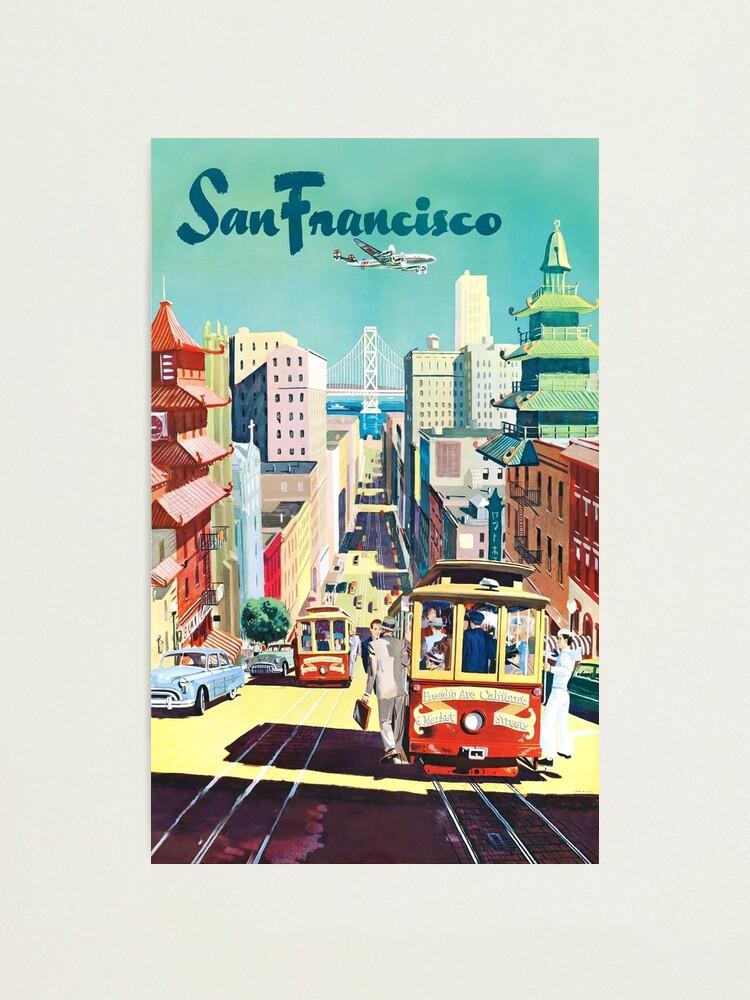 Alternate view of San Francisco - Vintage Travel Poster Photographic Print
