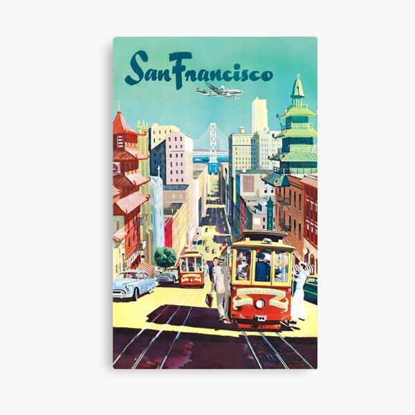 San Francisco - Vintage Travel Poster Canvas Print