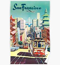 San Francisco - Vintage Travel Poster Poster