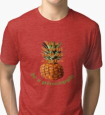 In A World Full Of Apples, Be A Pineapple  Tri-blend T-Shirt