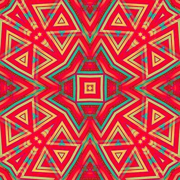 Orange Yellow | Geometric Pattern series by webgrrl