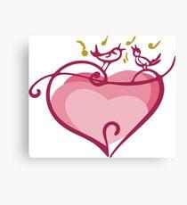 Pink heart Canvas Print