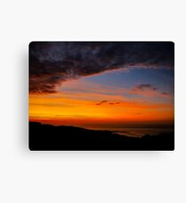 Sunset over the Atlantic - Glencolmcille, Ireland Canvas Print