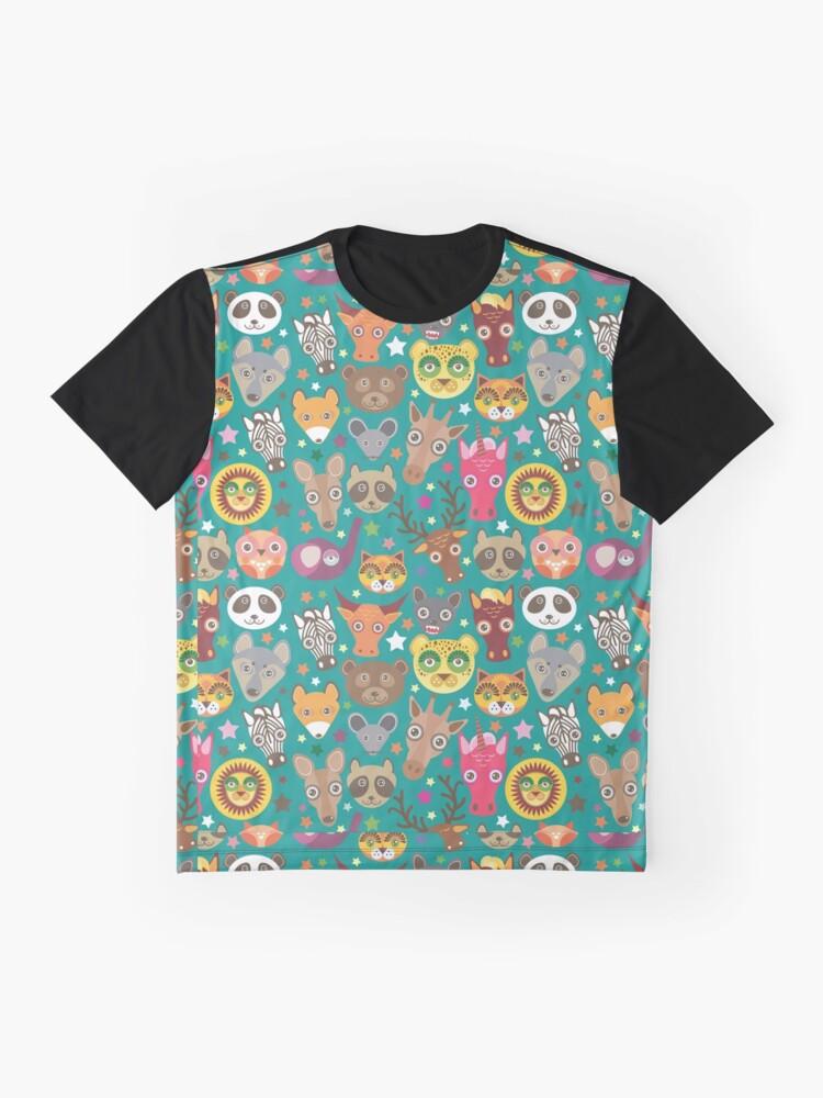 Alternative Ansicht von lustige Tiere Maulkorb Grafik T-Shirt