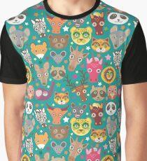 funny animals muzzle Graphic T-Shirt
