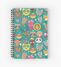 funny animals muzzle Spiral Notebook