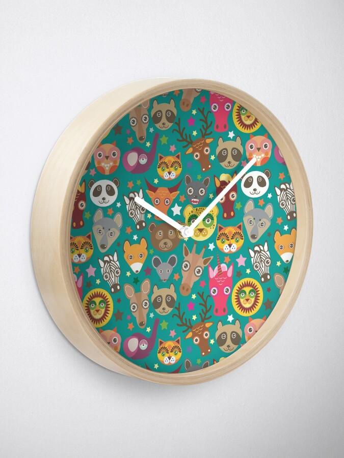 Alternative Ansicht von lustige Tiere Maulkorb Uhr