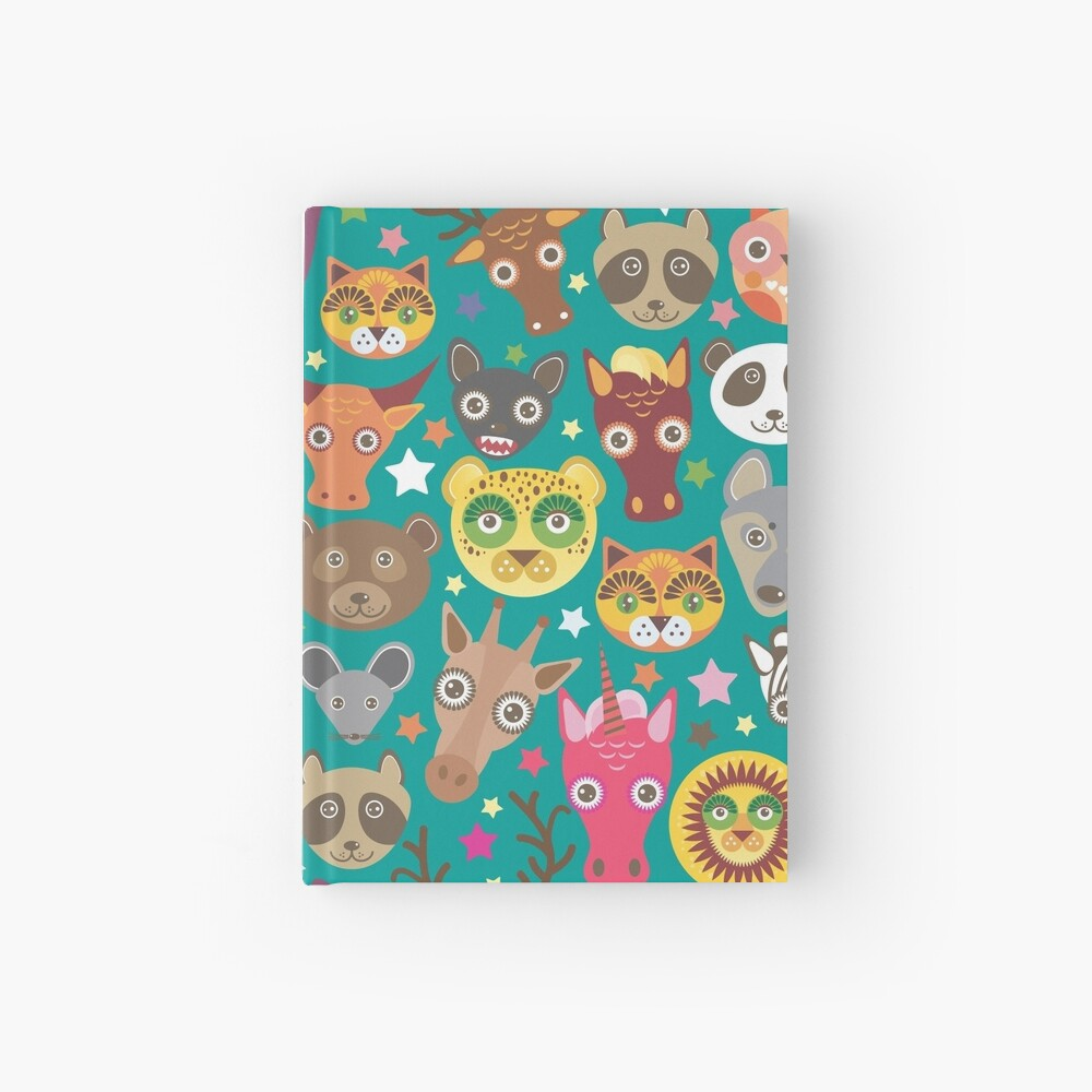 funny animals muzzle Hardcover Journal