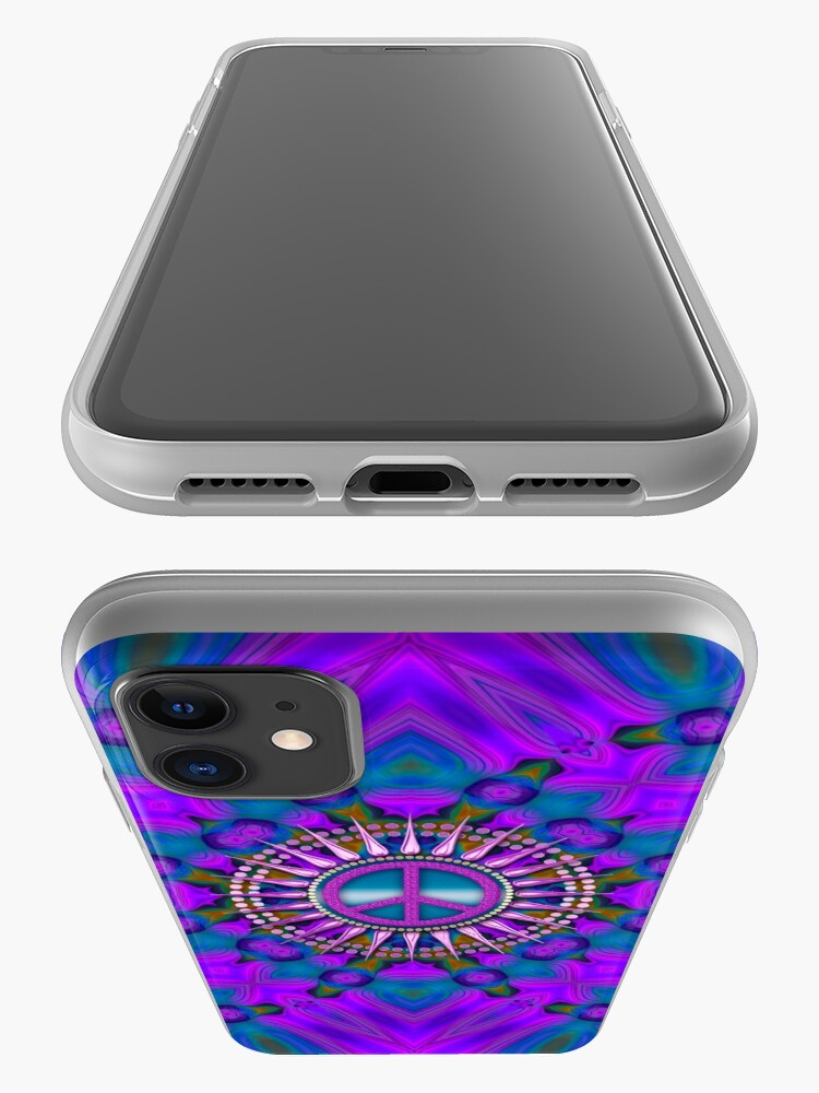 Alternate view of Purple Haze Peace Energy iPhone Case & Cover