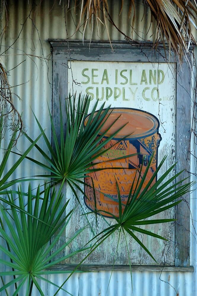Sea Island Sign, Beaufort, South Carolina by fauselr