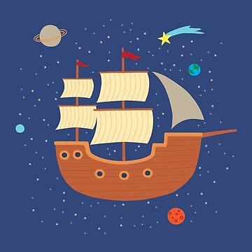 space-ship by Milkyprint