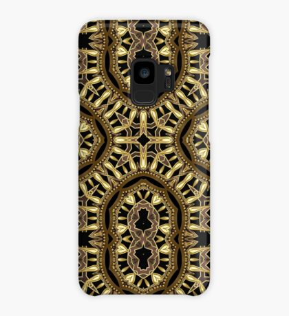 Black Gold Geometric Fusion #1 Case/Skin for Samsung Galaxy