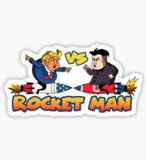 Rocketman Vs The Dotard Sticker