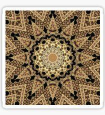 Golden Sun Mandala Geometric Flower Sticker
