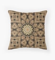 Golden Sun Mandala Geometric Flower Floor Pillow