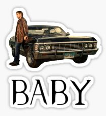 Dean's Baby - Impala, Supernatural Sticker