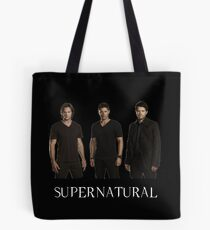 Supernatural - Jared, Jensen & Misha Tote Bag