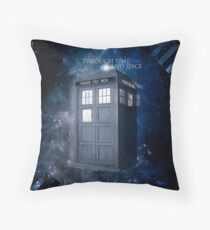 ThroughTime And Space Throw Pillow