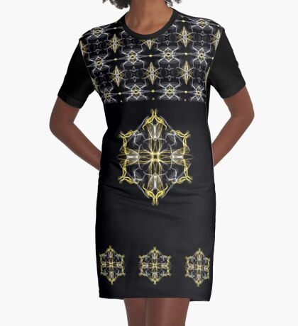Faces Reflect Graphic T-Shirt Dress
