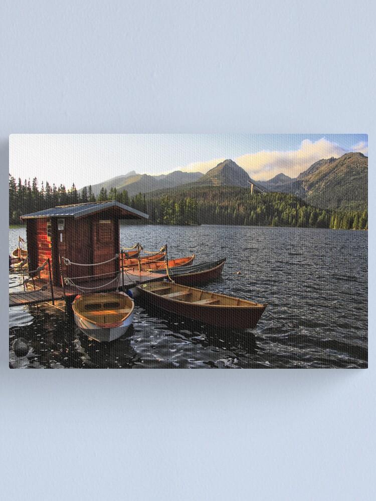 Alternate view of Boathouse at Strbske Pleso Canvas Print