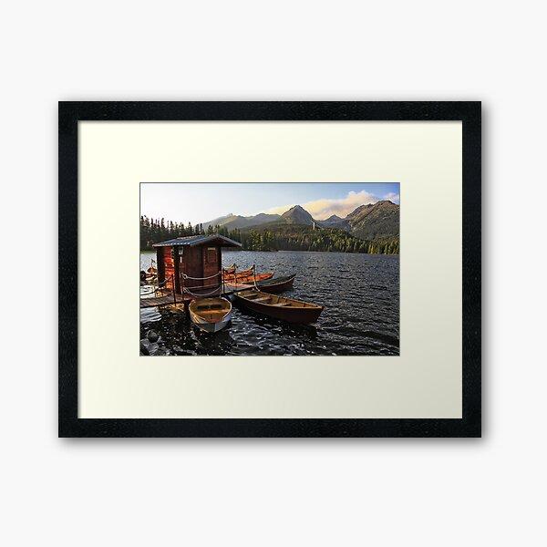 Boathouse at Strbske Pleso Framed Art Print