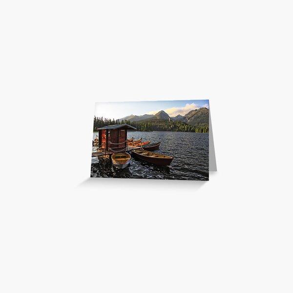 Boathouse at Strbske Pleso Greeting Card