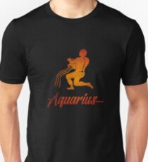 Aquarius Zodiac Sign Tee Birthday Gifts Funny T Shirt T-Shirt
