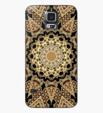 Golden Sun Mandala Geometric Flower Case/Skin for Samsung Galaxy