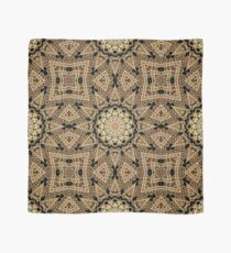 Golden Sun Mandala Geometric Flower Scarf