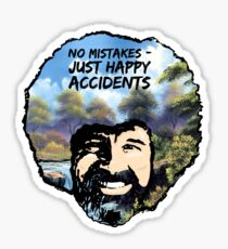 Bob Ross - Happy Accidents II Sticker