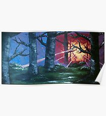 Sunrise Through The Trees - Acrylic Art By DCP Poster