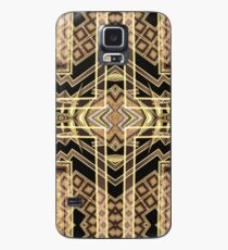 Black and Gold • Art Deco Fusion • Geometric Case/Skin for Samsung Galaxy