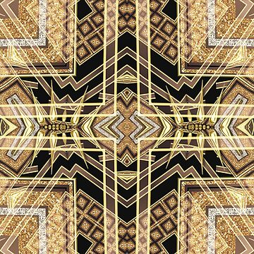 Black and Gold • Art Deco Fusion • Geometric by webgrrl