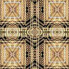 Black and Gold • Art Deco Fusion • Geometric by webgrrl