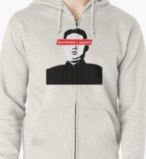 Sudadera con capucha y cremallera Líder Supremo Kim Jong Un