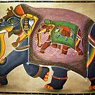 Udaipur Elephant of India by Bev Pascoe