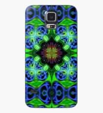 Blue Green Star Mandala Case/Skin for Samsung Galaxy