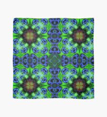 Blue Green Star Mandala Scarf
